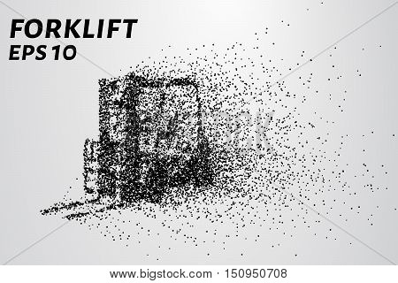 Loader of the particles. Cargo loader consists of small circles.