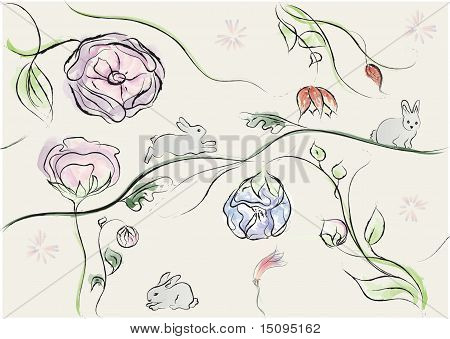 easter background abstract vector