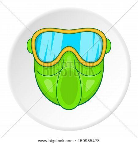 Mask for paintball icon. Cartoon illustration of mask for paintball vector icon for web