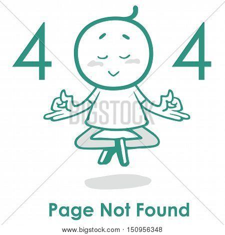Error 404 Page Layout Vector Design. Website Creative Concept. 404 Web Page Error.