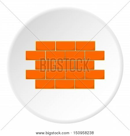 Wall of bricks icon. Cartoon illustration of wall of bricks vector icon for web