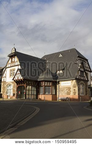 Traben-trarbach Old Train Station, In The Moselle Valley, Germany.