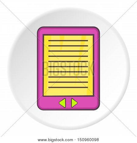 E-book icon. Cartoon illustration of e-book vector icon for web