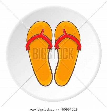 Flips flops icon. Cartoon illustration of flips flops vector icon for web