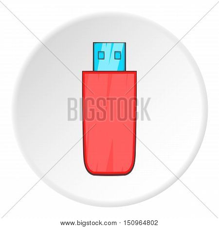 Usb flash drive icon. Cartoon illustration of usb flash drive vector icon for web