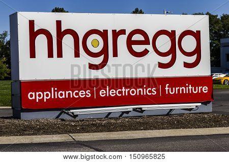 Indianapolis - Circa October 2016: hhgregg Corporate Headquarters. hhgregg is a retailer of consumer electronics and home appliances II