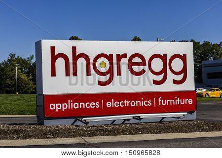 Indianapolis - Circa October 2016: hhgregg Corporate Headquarters. hhgregg is a retailer of consumer electronics and home appliances I