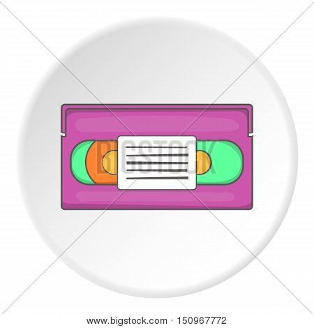 Video cassette icon. Cartoon illustration of video cassette vector icon for web
