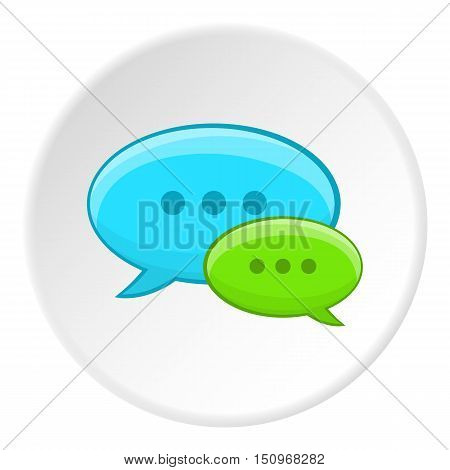 Speech bubble conversation icon. Cartoon illustration of speech bubble conversation vector icon for web