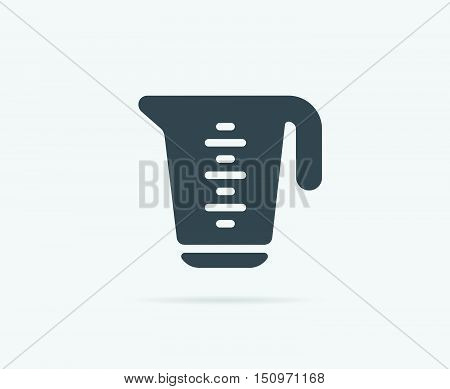 Measure Measuring Cup Vector Element Or Icon, Illustration Ready For Print Or Plotter Cut Or Using A