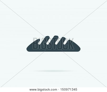 Fresh Bread Side View Vector Element Or Icon, Illustration Ready For Print Or Plotter Cut Or Using A