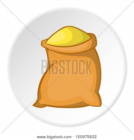 Sack of flour icon. Cartoon illustration of sack of flour vector icon for web