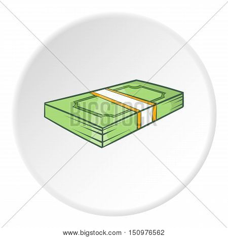 Bundle of money icon. Cartoon illustration of bundle of money vector icon for web