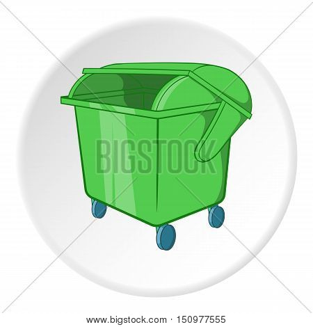 Dumpster icon. Cartoon illustration of dumpster vector icon for web