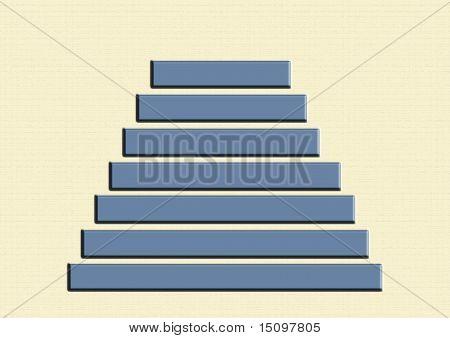 Hierarchy pyramid. Blue