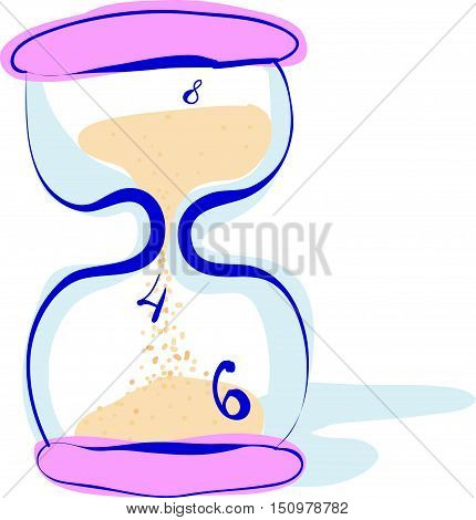 Hourglass, Sandglass, Sand Timer, Sand Clock Isolated Icon Vector Illustration