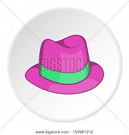 Gentleman hat icon. Cartoon illustration of gentleman hat vector icon for web