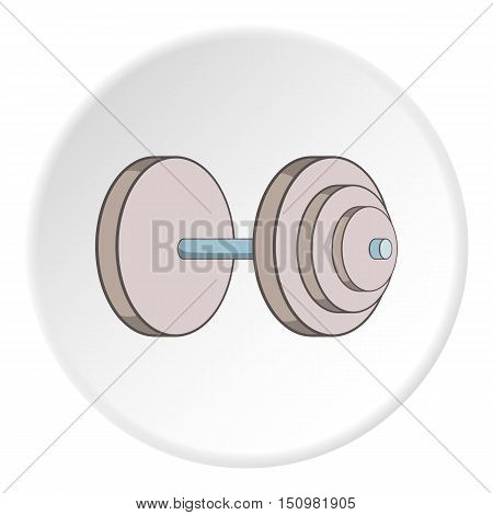 Heavy dumbbell icon. Cartoon illustration of heavy dumbbell vector icon for web