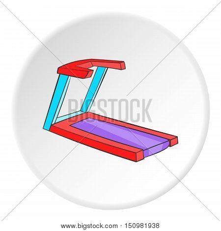 Professional treadmill icon. Cartoon illustration of professional treadmill vector icon for web