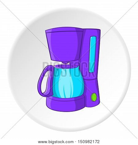 Coffee maker icon. Cartoon illustration of coffee maker vector icon for web