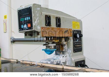 pad printing machine in factory ,business ,machine