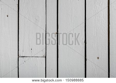 White wooden wall from reclaimed wood