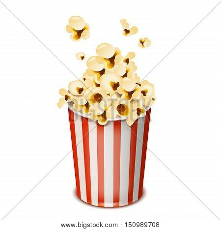 pop corn isolated on white background vector illustration