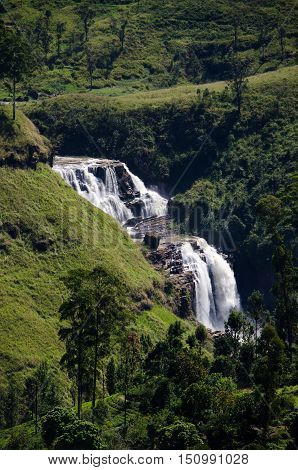 Water fall in Nuwara Eliya, Sri Lanka