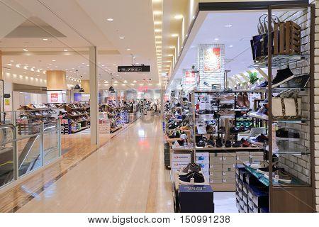 KANAZAWA JAPAN - OCTOBER 7, 2016: Unidentified people visit Kirara Kanazawa department store in Kanazawa.