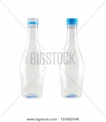 plastic bottle isolated on white background and have clipping paths to easy deployment.