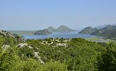 The biggest lake in the Balkans Skadarsko Jezero or Skadar Lake. Photograph taken from near Donja Sela in Montenegro. poster