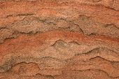 Macro of sandstone texture for use as a background. Zion National Park Utah poster