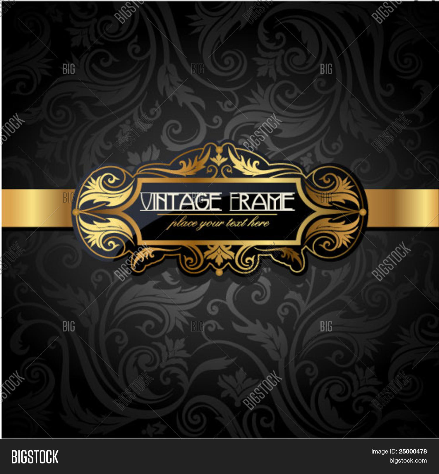 Vintage Gold Frame On Vector Photo Free Trial Bigstock