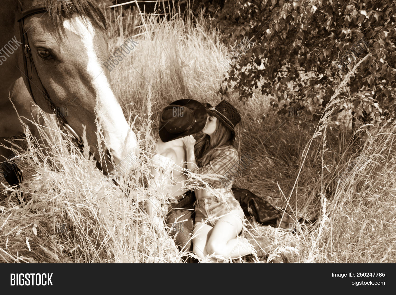 Cowgirl Cowboy Country Image Photo Free Trial Bigstock