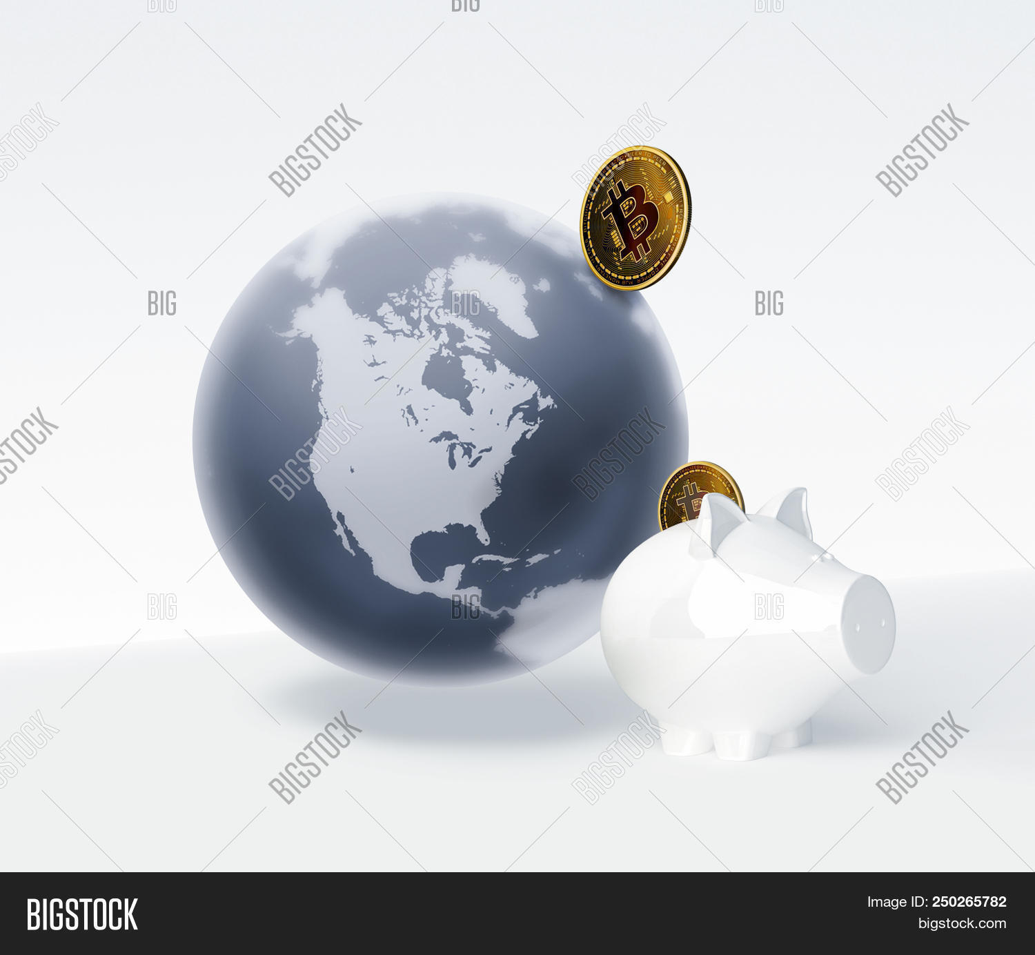 Bitcoin Symbol World Image Photo Free Trial Bigstock