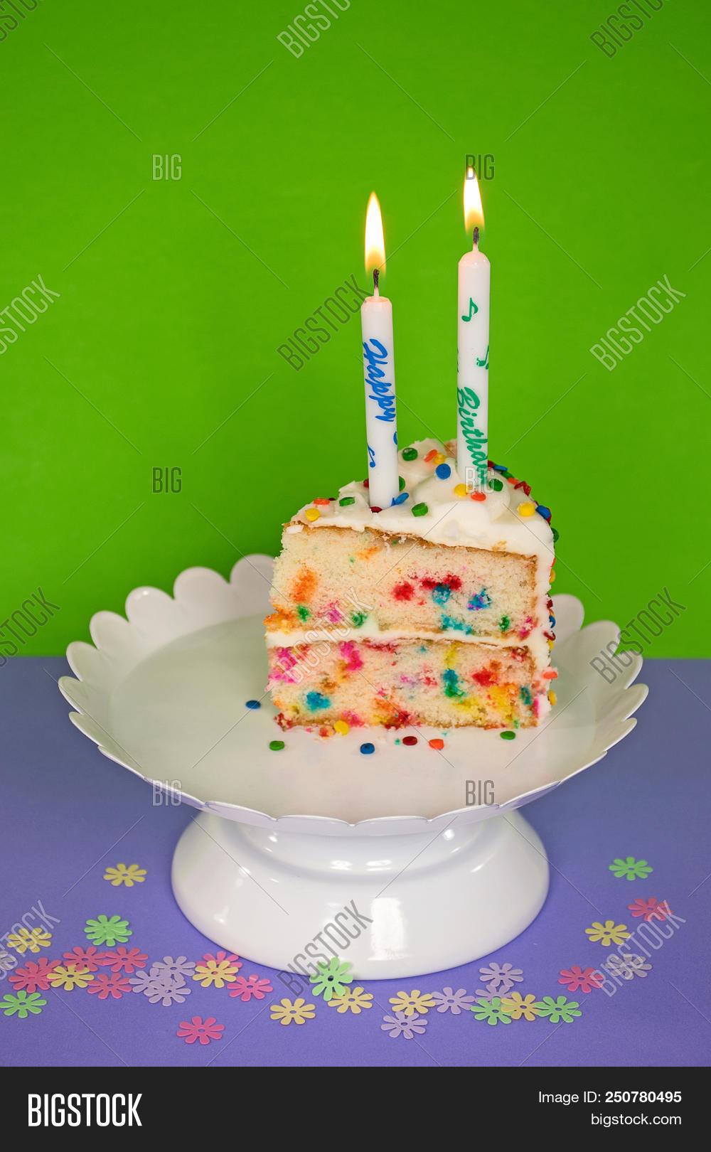 Remarkable Slice Birthday Cake Image Photo Free Trial Bigstock Personalised Birthday Cards Paralily Jamesorg