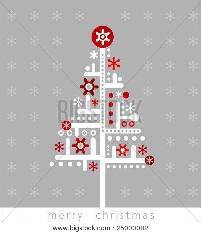 Very Modern christmas greeting card