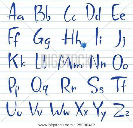 Doodle font, Hand written alphabet.