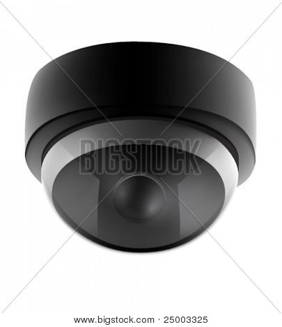 vector security camera illustration