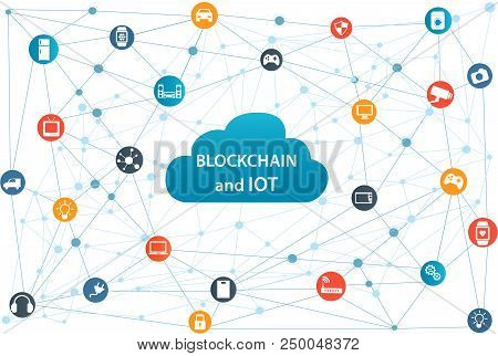 Internet Of Things Concept And Blockchain Technology Smart Home Technology Internet Networking Conce
