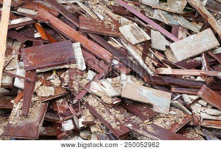 Pile Of Garbage - Old Wooden Floor