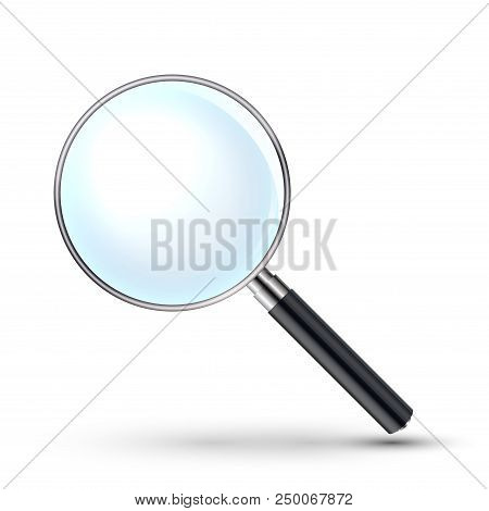 Magnifying Glass Vector Illustration. Magnify Zoom Tool Icon. Business Instrument Optical Sign Isola