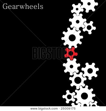 Industrial background. Vector.