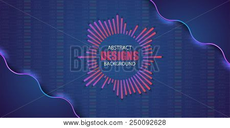Financial And Business Abstract Background . Stock Market Investment Vector Concept. Finance Investm