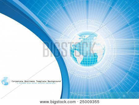 Global business. Vector. poster