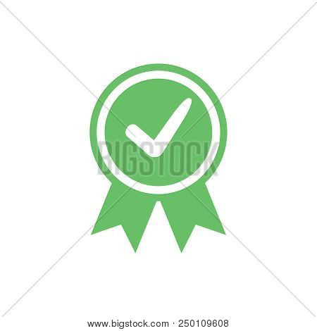 Approved Certified Icon. Certified Seal Icon. Accepted Accreditation Symbol With Checkmark. Assuranc
