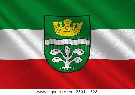 Flag Of Mayen-koblenz Is A District In The North Of Rhineland-palatinate, Germany. 3d Illustration
