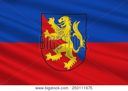 Coat Of Arms Of Rhein-lahn-kreis Is A District In The East Of Rhineland-palatinate, Germany. 3d Illu