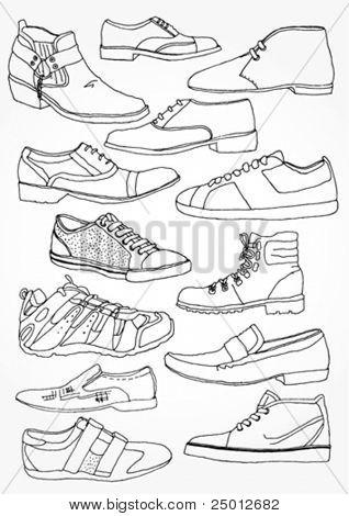 Men's Shoes Outline