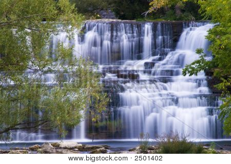 Waterfall In Lockport